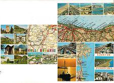 3 AK map card Italien: Padova, Ravenaa, Rimini