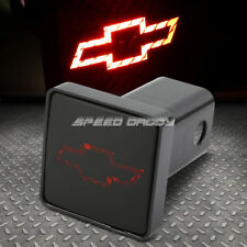"""FOR CHEVY BULLY 2"""" RECEIVER TRAILER TOW HITCH COVER/PLUG+LOGO LED BRAKE LIGHT"""