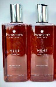 Pecksniffs Men's Professional Bath And Shower Gel 2 x 300ml
