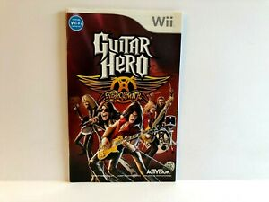 Guitar Hero Aerosmith Wii FRENCH MANUAL ONLY Authentic