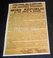 Irish Declaration Of Independence 1916 repro print