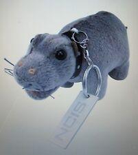 NCIS Plush Bert the Farting Hippo - KEY FOB with Metal NCIS tag. FOLKMANIS   HTF