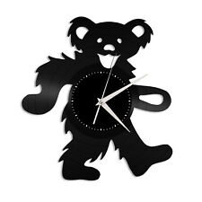 Bear Dance Vinyl Wall Clock Record Animals Lovers Unique Gift Home Decoration