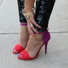 Zara Purple Red Ankle Strap Vamp Heels Sandals UK 3 EUR 36  Bloggers Fav