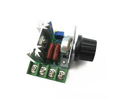 1Pcs 220V 2000W Speed Controller SCR Voltage Regulator Dimmers Thermostat