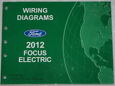 2012 Ford Focus Electric Model Wiring Diagrams Factory Electrical Shop Manual