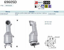 Pot catalytique Chevrolet Epica 2.0TD CRDI DPF 1991cc 110Kw/150cv LLW 5/06>9/09,