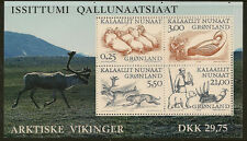GREENLAND : 2000 Greenland Vikings(2) Miniature Sheet SGMS 367 unmounted mint