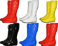 PRO WRESTLING COSTUME BOOTS YELLOW BLACK RED WHITE BLUE COSPLAY HALLOWEEN S-XL