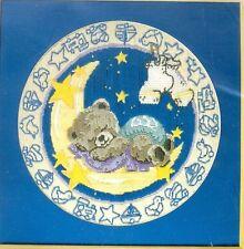 "Sleeping Baby Bear Long Stitch  Needlepoint Kit   DMC  12""  x 12"""