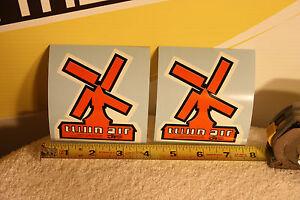 2 Old School Vintage MX Twin Air JT Racing CR KX RM TM decal sticker 125 250 400