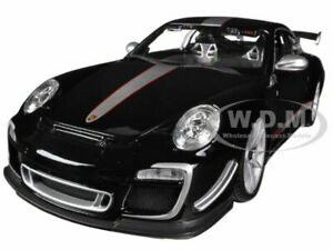 PORSCHE 911 GT3 RS 4.0 BLACK 1/18 DIECAST MODEL CAR BY BBURAGO 11036
