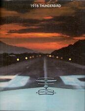 Ford Thunderbird 1978 USA Market Sales Brochure Town Landau Diamond Jubilee