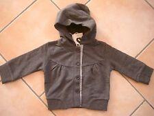 (X146) Imps & Elfs unisex Baby Sweatjacke +Kapuze, Taschen & Logo Aufnäher gr.68