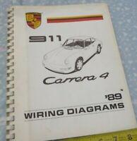 Porsche 911 Carrera 4 1989 Wiring Diagrams Manual 13 sheets OEM