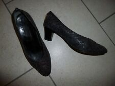 DESSUS Black/Brown Leather Court Shoes Size 5½