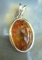 ovaler anhänger aus baltischem honig bernstein silber 925 vom juwelier