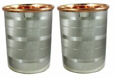 Drink ware Accessories Pure Copper & Stainless Steel Glass Cup 9 Oz Set Of 2