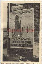 Q757 Foto Wehrmacht Holland 10.5.1940 Front combat propaganda Plakat Portrait So