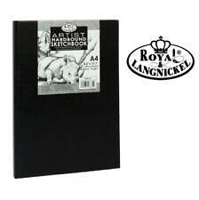 A4 Royal & Langnickel Sketchbook Case Bound Black Hardback Sketch Pad 90gsm