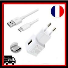 Câble Micro USB Type C Chargeur Adaptateur mural rapide Samsung Galaxy S8 Blanc