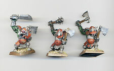 CITADEL WARHAMMER OOP METAL BLACK ORCS WITH TWO WEAPONS