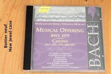 Bach JS - Offrande Musicale BWV 1079 - Canons - Boitier neuf - CD  Hänssler