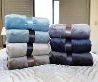 NEW Velvet Flannel Warm Blanket 300GSM Queen King Size 229x229cm 7 Colours