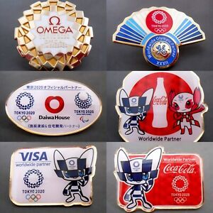 Collection  New 6pcs sponsor Tokyo 2020 olympic pins