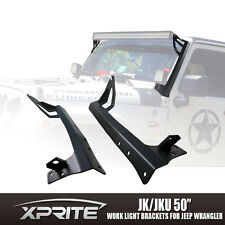 Xprite 52 Inch Work Light Bar Upper Roof Mounting Bracket 07-17 Jeep Wrangler JK