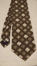 "EUC Vintage 80s? Structure Flowers Oak Leaves Green Brown Silk Tie 56"" L 3.50"" W"