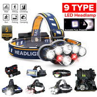 85000Lm-350000LM T6 LED Headlamp Headlight Torch 18650 Rechargeable Work Light