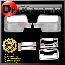 04-08 Ford F150 Chrome Mirror+2 Door Handle+keypad+no PSG keyhole Cover COMBO
