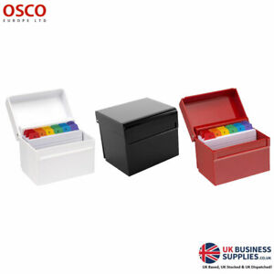 Osco White/Red/Black 5x3inch Index Box & Cards
