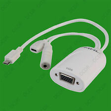 Micro USB MHL to VGA & 3.5mm Audio Converter Adaptor Cable for Samsung HTC LG