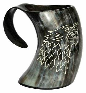 Game of Thrones Wolf Mug Wolf Carved Tankard For Beer Viking Drinking Horn Mug