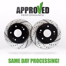 [Front Set] Premium Performance Drilled and Slotted Disc Brake Rotors Pair