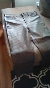Brown leather pants,motorcycle,size 40,but really  like 37/32