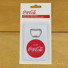 "Coca Cola White ""Credit Card"" Bottle Opener Fridge Magnet Coke"