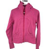 Lululemon Scuba Womens Size 4 Pink Jacket Ladies Thumbhole Full Zip Active