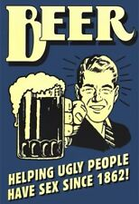 "Beer Helping Ugly People Humour poster   MAXI SIZE 24""X36"""