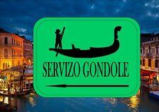 Signo de reproducción Venecia Italia signo calle Venecia Góndola signo de servicio