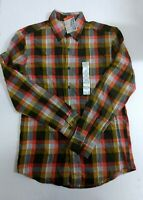 ST. JOHNS BAY Men's Button Down Flannel Shirt SZ S Small NEW NWT Button Cuffs