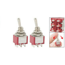 2 Pcs ON/ON 2 Position Double Pole Double Throw Toggle Switch L6 POP