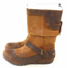 Merrell Women's Haven Pull No Slip Mid Calf Leather Boot  Oak Brown Size 5 M