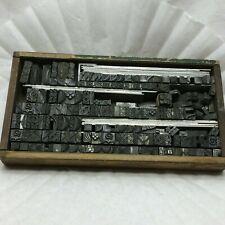 100 Small Vintage Metal Letter Press Plate Stamps Blocks Edge Designs
