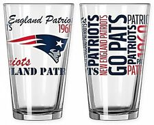 New England Patriots NFL Pint Beer Glass Set 2-Pack 16 oz Tailgate Bar Drink NEW