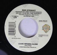 Rock 45 Rod Stewart - Leave Virginia Alone / Shock To The System On Warner Bros.