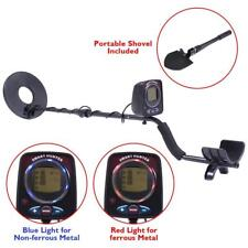LCD Disc Precious Metal Detector Kit Waterproof Coil Arm Rest & Portable Shovel