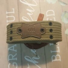 Very Rare Polo Ralph Lauren Studded Webbed Military Double O-ring  Men's Belt.